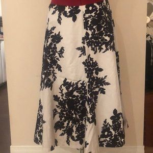 Satin Finish Cotton Circle Floral Print Skirt